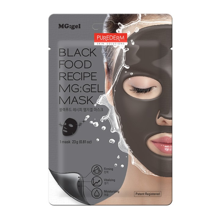 Black Food Recipe MG:GEL Mask