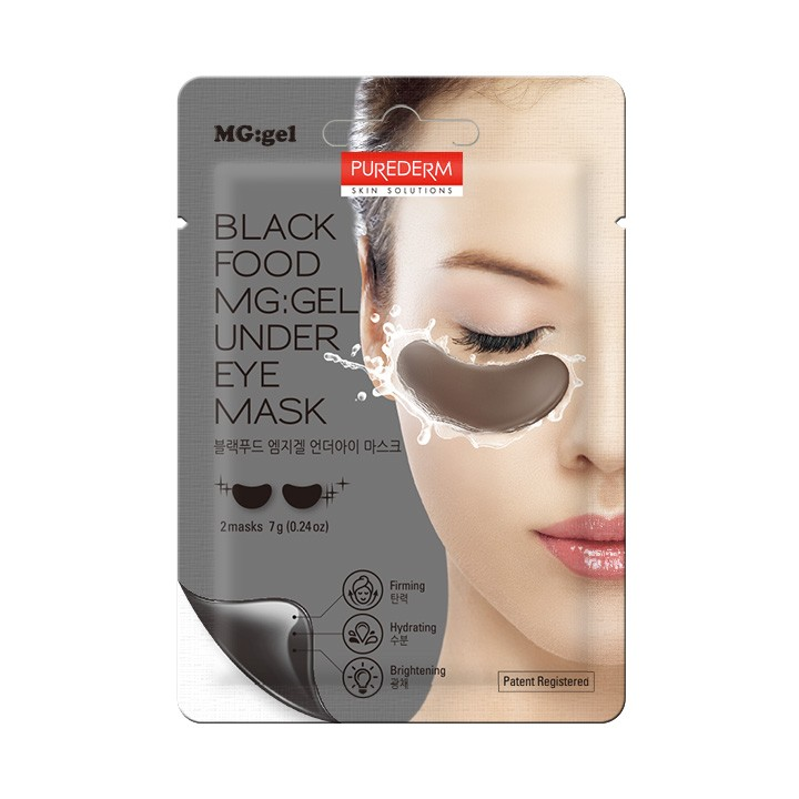Black Food MG:GEL Under Eye Mask